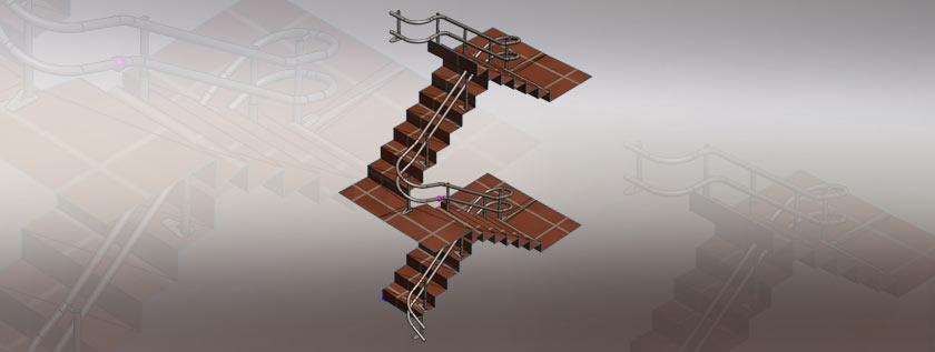 3D Model of Rail System