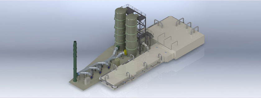 3D Rendering of Recycling Plant