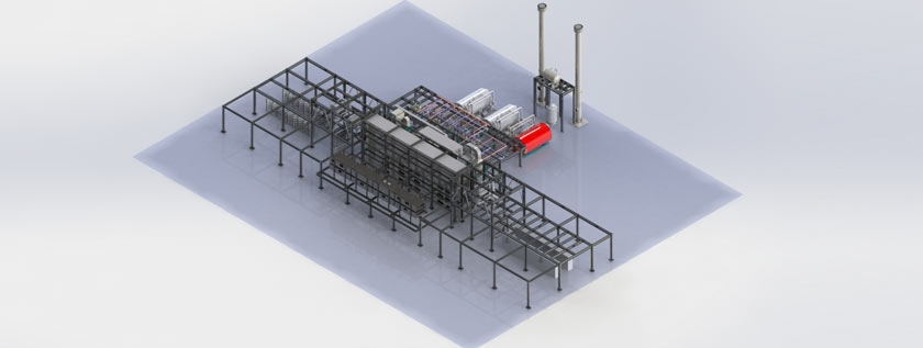 3D Rendering of Yarn Treatment Plant