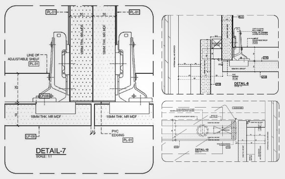 Architectural MillWork Drawing