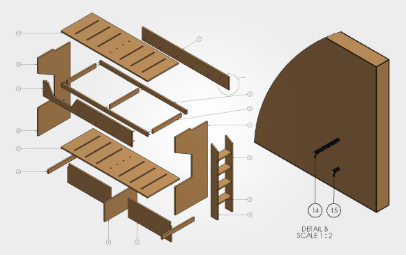 Furniture MillWork Drawing