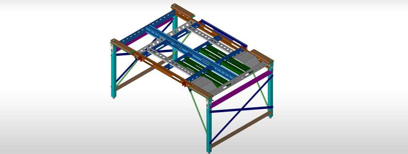 3D Steel Structure Design SolidWorks