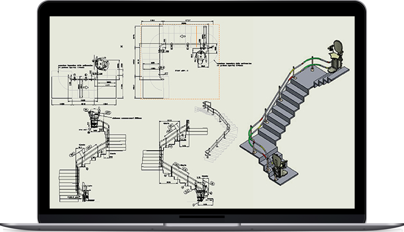 Fabrication Drawing for Stairlifts Manufacturer