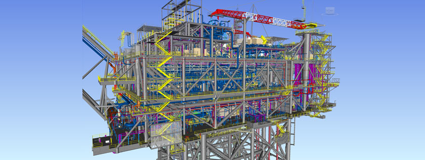 Structural Steel Detailing for Oil and Gas Plant