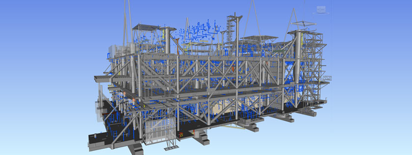 Tekla Steel Detailing for Oil and Gas Rig