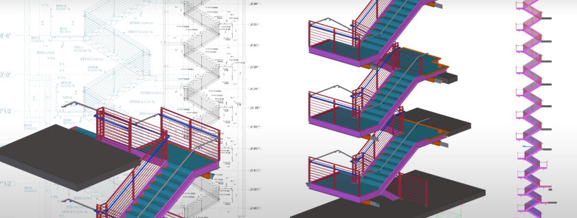 Steel Staircase Detailing Service