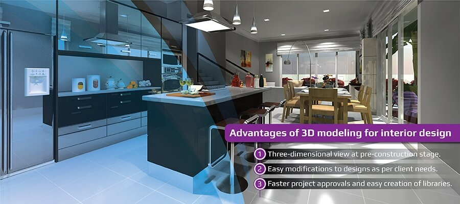 Advantages of 3D Modeling for Interior Designs