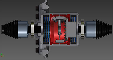 3D Model of Automotive Differential