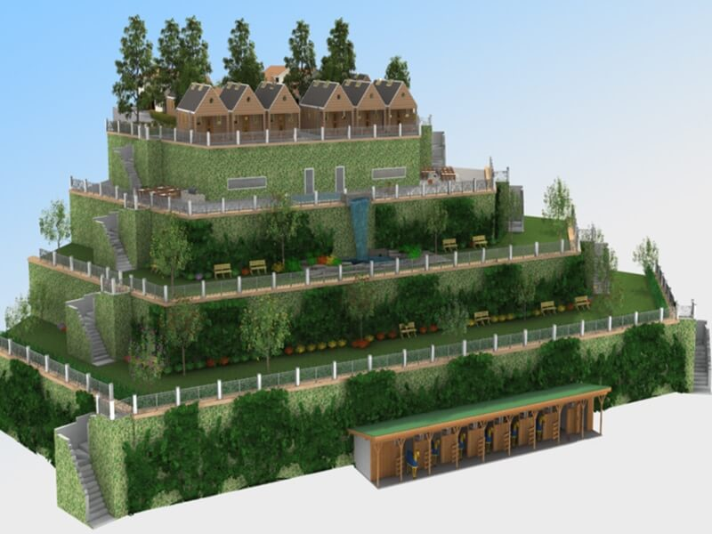 3D Modeling Rendering Property Retaining Wall Concept Output 2