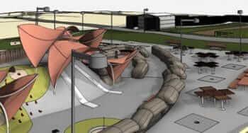 BIM LOD 300 Modeling of a Public Park as per AIA Standards, USA