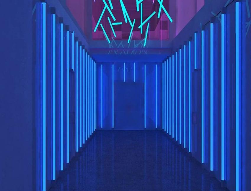 Corridor – 3D Rendering of a Night Club's Interiors