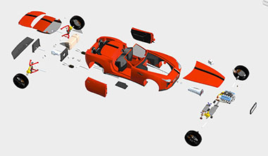 Automotive 3D Exploded View