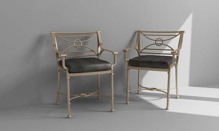 Metal Chair Rendering