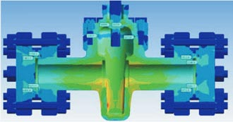 Structural Analysis of Gate Valve Assembly for a Manufacturer, Europe