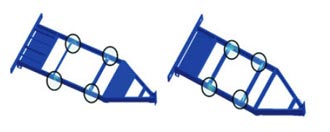 FEA Support to Evaluate the Structural Integrity of Two Trailer Frame Designs, Canada