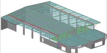 Tekla Steel Model for a Business Park in Australia