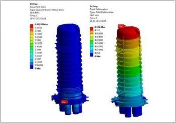 Effects of Impact Loading on Vertical Fiber Optic Splice Closure using FEA