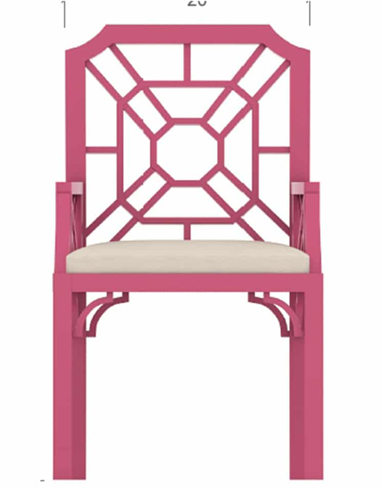 Chair 3 Front View – 3D Models & Isometric Furniture Manufacturing Rendering Sample