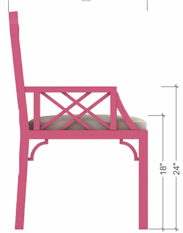 Chair 3 Side View – 3D Models & Isometric Furniture Manufacturing Rendering Sample