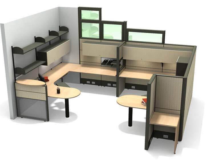 Office Furniture Rendering
