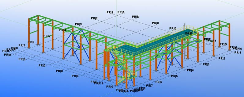 Pipe Rack – Structural Steel Detailing Service
