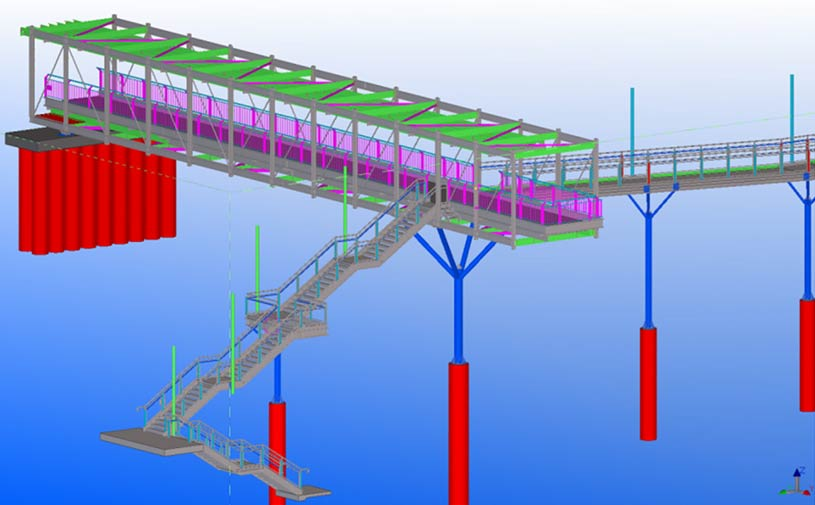 Shop Drawings, Assembly Drawings & Part Drawings for a Pedestrian Bridge