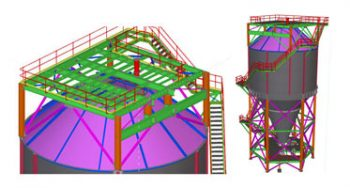 Steel Detailing to Steel Fabricator for Silo, NSW, Australia