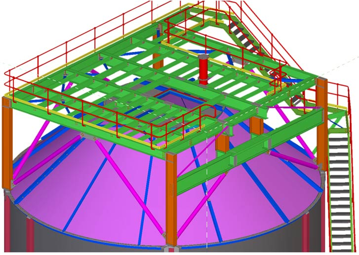 Top Platform – Steel Detailing Services for 1000 Ton Steel Silo