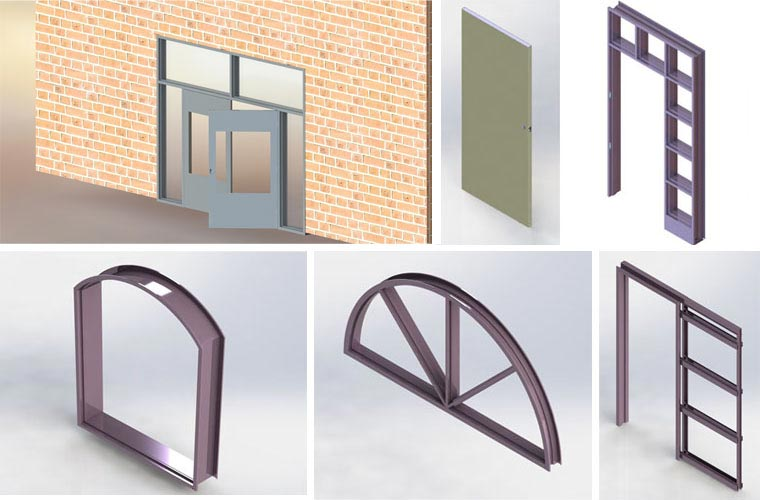 3D Modeling and Manufacturing Support for Hollow Metal Doors