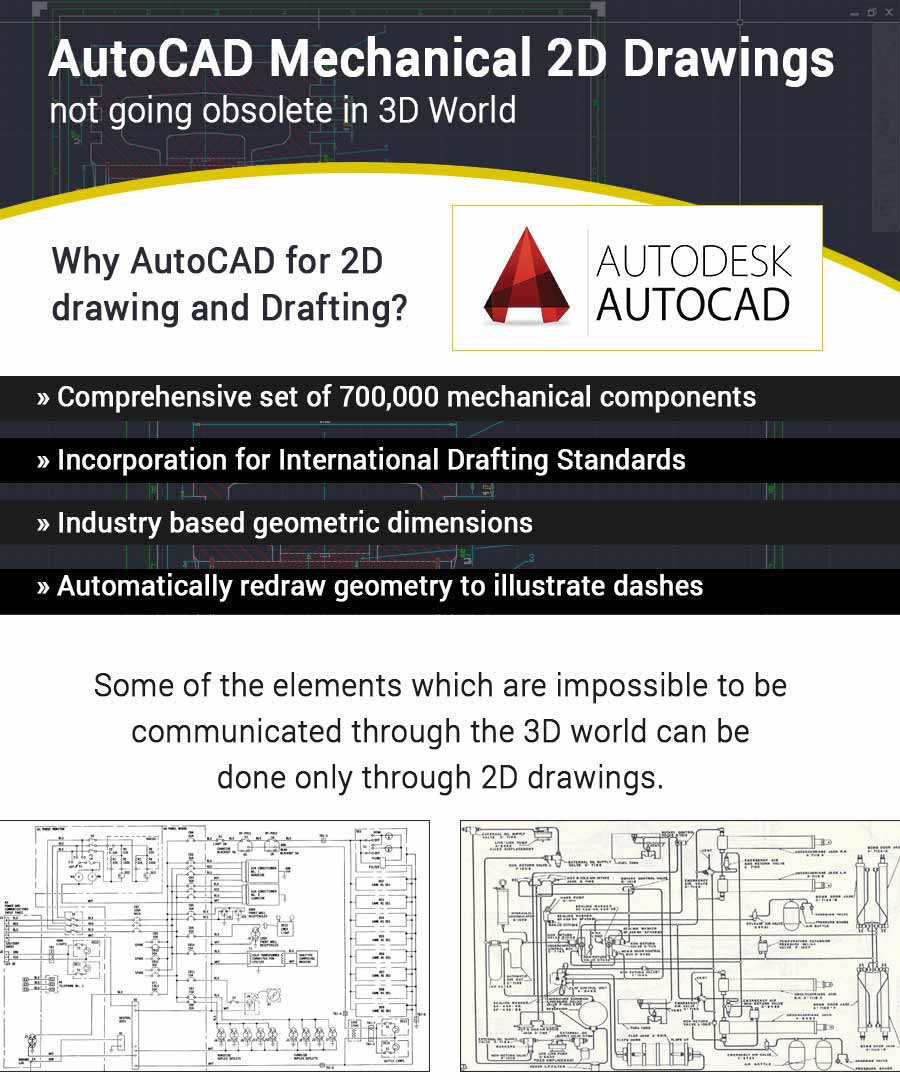 AutoCAD Mechanical 2D Drawings