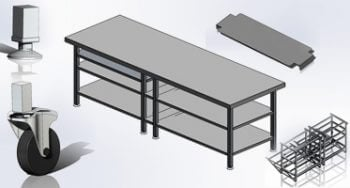 Online Table Configurator for Stainless Steel Furniture Manufacturer, UK