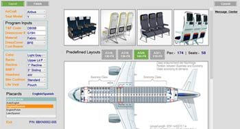 BOM configurator using DriveWorks for aircraft seating area, US