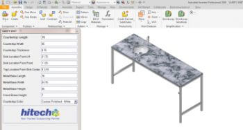Vanity Configurator using Inventor iLogic for Doors & Vanity Manufacturer, USA