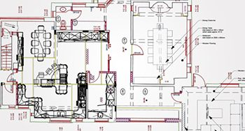 Joinery Shop Drawings from Architectural Plans for Office Floor, UK