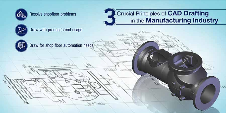 3 Crucial Principles of CAD Drafting in the Manufacturing Industry