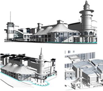 BIM model for shopping mall