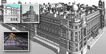 Scan to BIM Conversion for a 16th Century Heritage Monument Building, UK