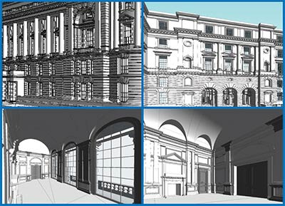 Point cloud to BIM LOD 400 for a Heritage Monument Building